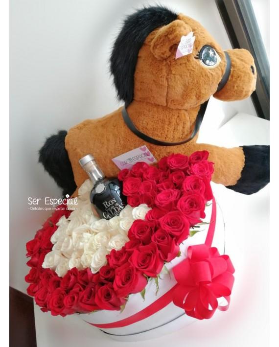 Caballo Entre Rosas